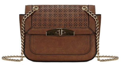 ec23a2abbc Laser Cut Pattern Flap Crossbody Bag H196104 - Brown_ Handbags_ Amazon