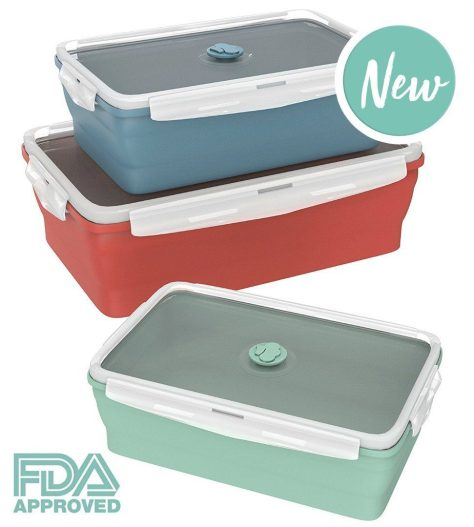 Deals Finders Amazon 3 pack Collapsible Silicone Food Storage