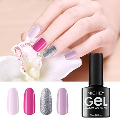 Deals Finders | Amazon : Gel Nail Polish Set Nude Glitter Collection ...