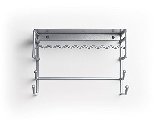 Silver 10 Inch Wall Mount Jewelry U0026 Accessory Storage Rack 4