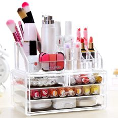 Deals Finders Amazon Clear Acrylic Makeup Cosmetic Drawers Grids