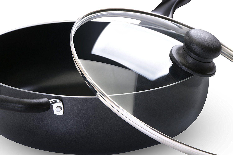 11 Inch Nonstick Deep Frying Pan - 4.6 Quart Sauté Pan 2