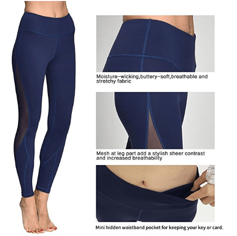 fcc880c9d4eeb7 Deals Finders | Amazon : Yoga Leggings for Women Running Workout Pants Mesh  Fitness Yoga Capri w Phone Pocket Just $14.49 W/Code (Reg : $24.99) (As of  ...