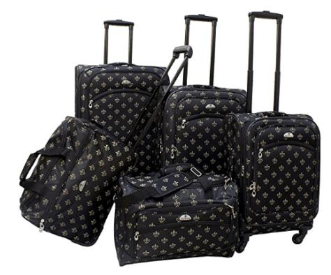 2018-06-14 13_02_42-Amazon.com _ American Flyer Fleur De Lis 5-Piece Spinner Luggage Set, Black, One