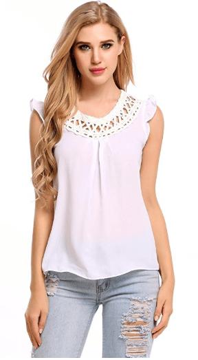 2018-06-14 14_46_42-Zeagoo Women's Chiffon Lace Sleeveless Shirt Blouse Tank Tops at Amazon Women's