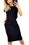 2018-06-14 17_07_46-Payeel Office Midi Dresses O-Neck Pencil Dress Pockets with Belt Vest Dresses at