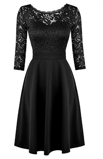 2018-06-14 17_14_29-Mixfeer Women's Vintage Floral Lace Cocktail Swing Dress With 3_4 Sleeve at Amaz