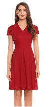 2018-06-14 23_18_32-Misakia Women Elegant V Neck Lace A-Line 3_4 Sleeve Pleated Cocktail Party Dress