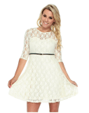 2018-06-15 00_09_49-Women's Cute Sheer Lace Three-Fourth Sleeve Dress with Belt Decor at Amazon Wome