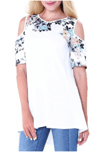 2018-06-15 00_41_55-DANVOUY Womens Summer Cold Shoulder Casual Short Sleeve Floral Print Blouse Tops
