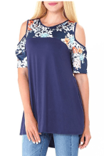 2018-06-15 00_42_33-DANVOUY Womens Summer Cold Shoulder Casual Short Sleeve Floral Print Blouse Tops
