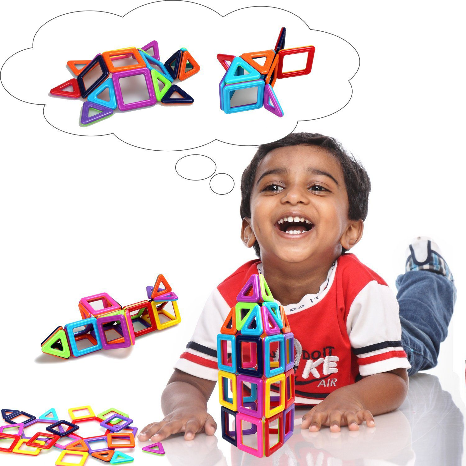 95 Pieces Magnetic Stacking Blocks 6