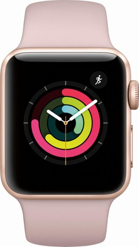 Apple-Watch-Series3(GPS)-38MM-Gold-Aluminum-Case-with-pink-sand-sport-band 2