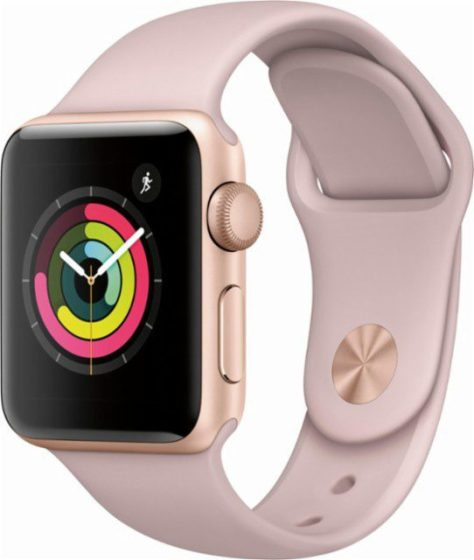Apple-Watch-Series3(GPS)-38MM-Gold-Aluminum-Case-with-pink-sand-sport-band