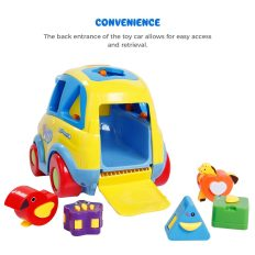 Auto-Sensing Happy Elephant Educational Musical Car Toy with Transforming Animal Block Shapes and Various Sounds 4