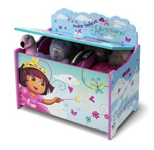 Delta Children Deluxe Toy Box, Nick Jr. Dora the Explorer 1