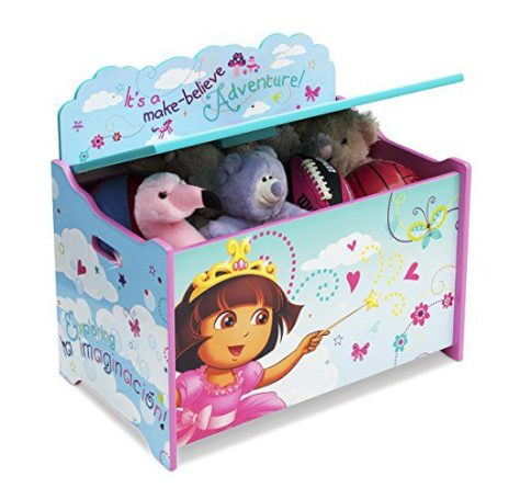 Delta Children Deluxe Toy Box, Nick Jr. Dora the Explorer 2