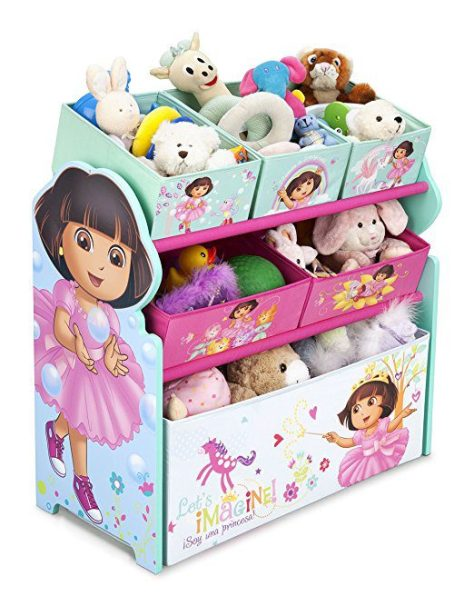 Delta Children Multi-Bin Toy Organizer, Nick Jr. Dora The Explorer 2
