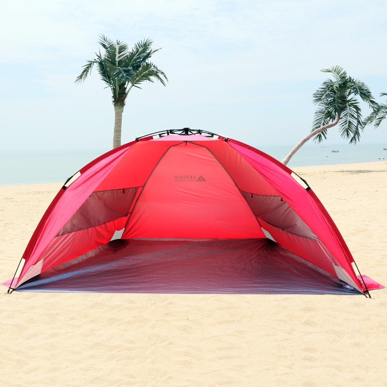 EasyUp Beach Tent Quick Cabana Sun Shelter Family Use,Sets up in Seconds 4