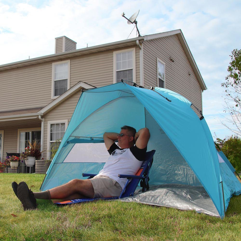 EasyUp Beach Tent Quick Cabana Sun Shelter Family Use,Sets up in Seconds 6