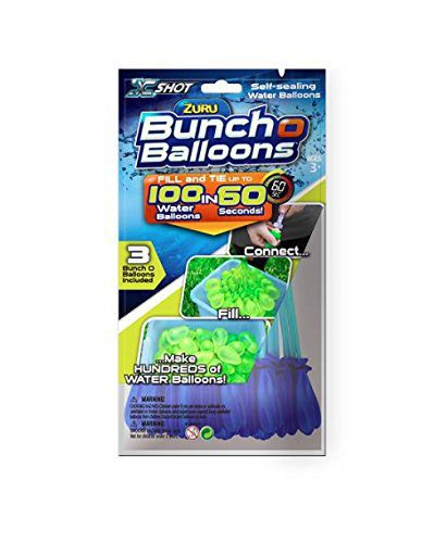 Instant Water Balloons – Blue (3 bunches – 100 Total Water Balloons) 1