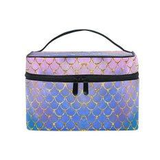Travel Cosmetic Brush Bag Organizer Large for Girls Women