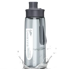 Water Bottle 28oz with Handle, BPA Free and Leak-Proof