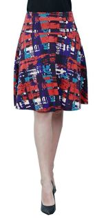 Women-Summer-Floral-Hight-Waisted-Knee-Length-Midi-Skirt-with-Pocket 3