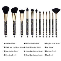 12 Pieces Professional Makeup Brushes 2