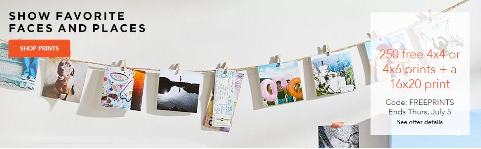 Deals Finders Shutterfly 250 Free 4x6 Prints Free 16x20 Print