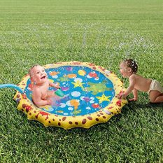 39in-Diameter Sprinkle and Splash Play Mat (Colorful 1) 3