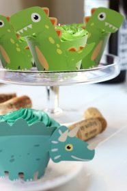 Dinosaur Cupcake Wrappers Toppers 2