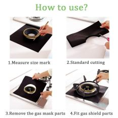 Gas Range Protectors with Multipurpose Lighter - 4 Pack 4