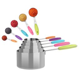 10pcs Stainless Steel Colorful Measuring Set 3