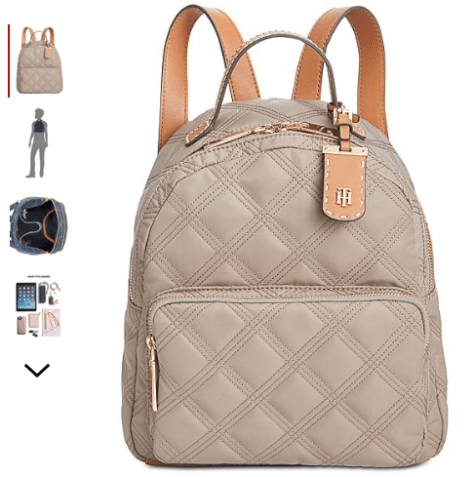 2018-09-19 10_44_24-Tommy Hilfiger Julia Quilted Nylon Dome Backpack, Created for Macy's - Handbags .png