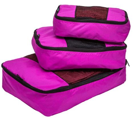 3 Piece Weekender Luggage Organizer Set