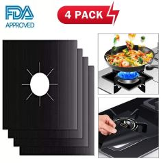 4-Pack Reusable Gas Stove Burner Covers