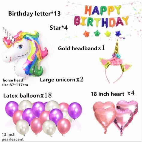 42PCS Magical Unicorn Balloon 1