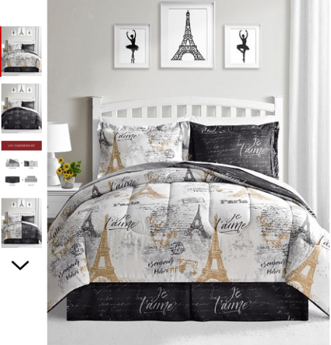 8-Pc. Reversible King Comforter Set