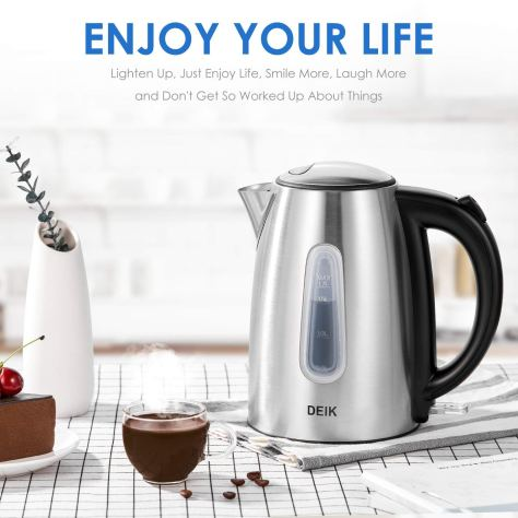 Electric Kettle Stainless Steel Cordless 1