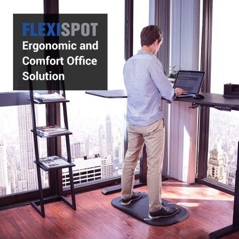 Ergonomic PU Office Standing Desk Mat and Kitchen Not-Flat Anti-Fatigue Comfort Floor Mat 2