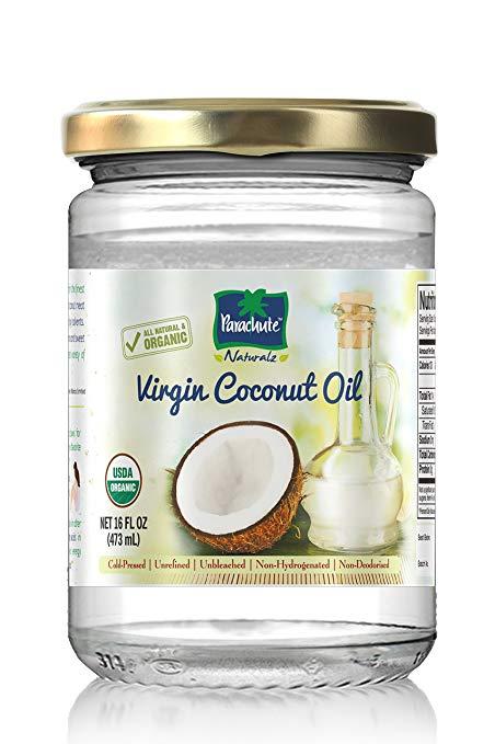 Naturalz 100% Organic Virgin Coconut Oil 16 fl.oz. (473ml) - Cold Pressed, USDA certified