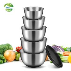 Stainless Steel Mixing Bowls Set with Lids