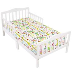 Toddler 2 Fitted Sheets Animal-Print and Pink