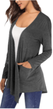 Women's Long Sleeve Open Front Breathable Cardigans 1