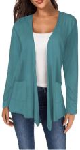 Women's Long Sleeve Open Front Breathable Cardigans