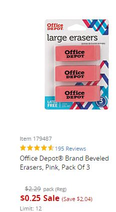 Office Depot Online: School Supplies Up to 80% Off – Starting at ONLY 25¢!