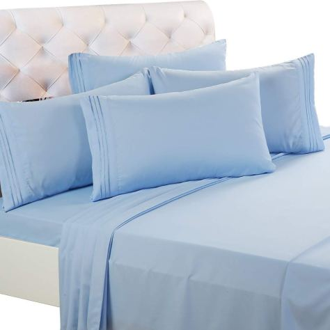 4-Pieces 1800 Thread Count Microfiber Bed Sheet Set