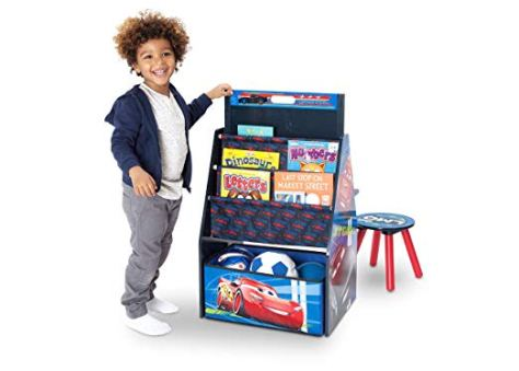 Activity Center with Easel Desk, Stool and Toy Organizer, 2