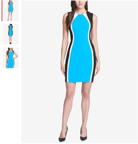 Colorblocked Scuba Crepe Dress